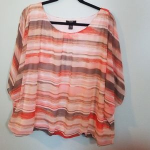 Bright Spring color blouse 3X